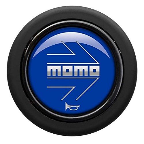 MOMO(モモ) ホーンボタン 【アロー ブルー】 ARROW MATT BLUE (センターリング無し) HB-20