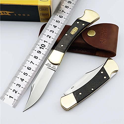 Premium Outdoor Portable Klappmesser Scharf Stahl Messer M390 Klinge metall Griff portable Taschenmesser Einhandmesser klein Survival Halskette Messer schwarz werkzeuge Wandern/leder Scheide