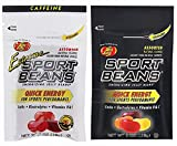 Jelly Belly Sport Beans - Assorted and Extreme Assorted with Caffeine  Energy Chews [12 Pack] Energizing Jelly Beans-Click for More Sizes