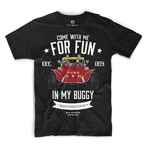 Bud Spencer Herren Zwei wie Pech und Schwefel T-Shirt (schwarz) (L)