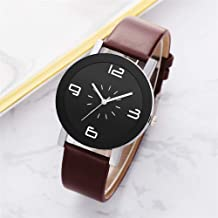 KINGDUBW Women Watches Leather Strap Vintage Round Dial Ladies WristWatch Fashion Quartz Watch Clock