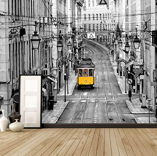 Papel Pintado Fotográfico Calle Gris De Nueva York 300X210Cm Adhesivos Para Fotos Tejido No Tejido Murales Salón Dormitorio Despacho Pasillo Decoración Murales Decoración De Paredes Moderna