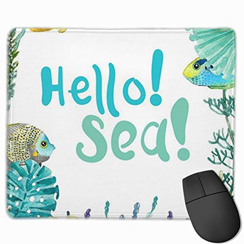 Muismat, bureau muismat, muismat blauw dier aquarel Sea Life zeelang schaaldieren paard mooi bont aquarium