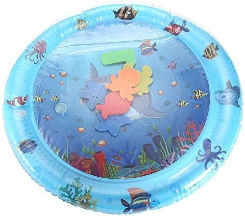 Colchoneta de agua redonda portátil inflable para bebé, cojín de hielo para piscina