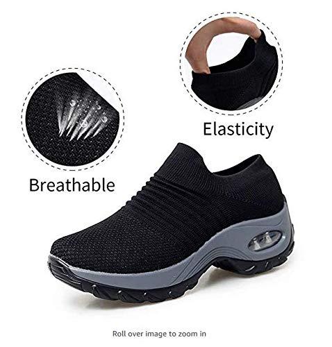 Zapatos de Trabajo Muy cómodos para Trabajos de hostelería y no resbalan-UniseZapatos Casuales Muy cómodos para Trabajos de hostelería y no resbalan-Unisex-adultox-Adulto (42 EU, Negro)