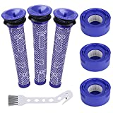 6 Pack Vacuum Filter Replacement Kit for Dyson V7, V8 Animal and V8 Absolute Cordless Vacuum,3 Post Filter, 3 Pre Filter, Compatible with Dyson V8+, V8, V7, Compare to Part 965661-01, 967478-01