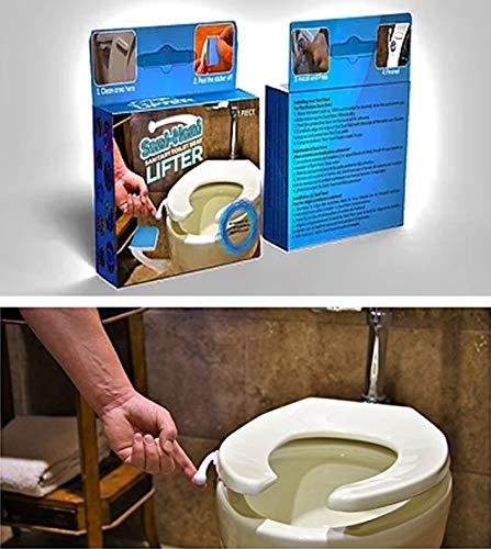 The Original Sani-Hani Antimicrobial Toilet Seat Lifter/Handle! - Best on the Market (over 90% score!), Great for Homes & Businesses - Built To Last, Be HEALTHY & SANITARY - Stops the spread of germs!