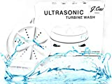 Ultrasonic Portable Washing Machine - Bi Directional Rotating Compact Turbine, Bubbler- Sterilizes and Removes Dirt, Mini Turbo Washer for Travel, Business, Apartment, Light Personal Laundry