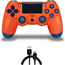 PS4 Controller MOVONE Wirelles Controller with USB Cable for Sony Playstation 4 (Orange)