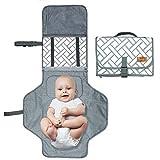 Cambiador de pañales portátil, ANSUG Almohadilla para cambiar el bebé...