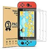 daydayup 3piezas Protector de Pantalla para Nintendo Switch Cristal Templado Pantalla,fácil instalación Sin Burbujas, HD, a Prueba de Rotura, arañazos-Resistente