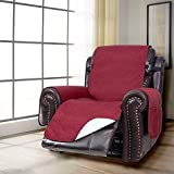 KARLSCHMIT Waterproof Recliner Covers-Recliner Chair Protector 26 Inch Anti-Slip Silpover for Leather Sofa Furniture Protector for Dogs (Burgundy, Recliner(26'))