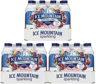 Ice Mountain Sparkling Water, Black Cherry, 16.9 fl. oz. Bottles (24 Ct) (Pack of 3)