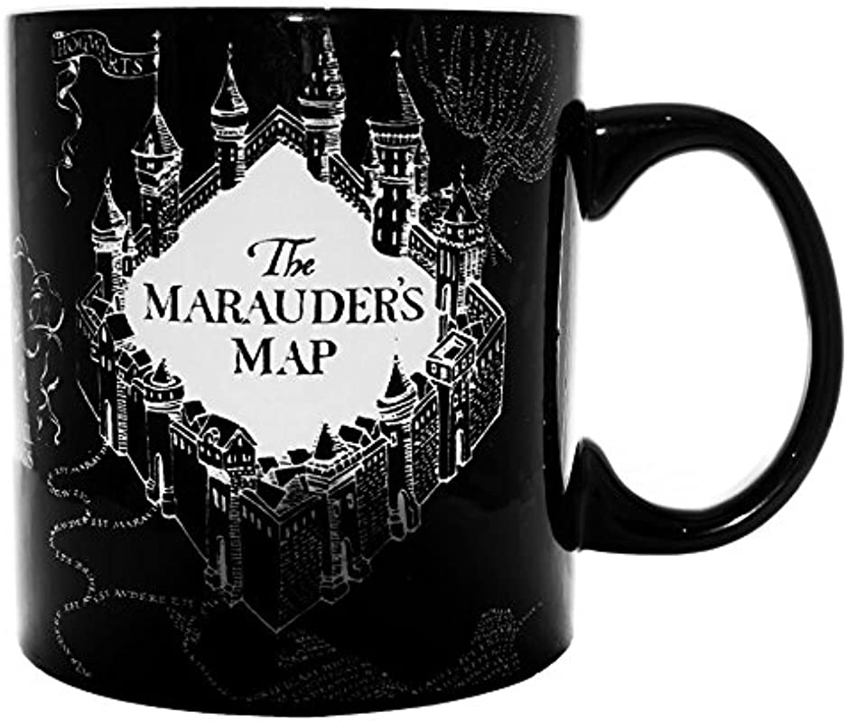Silver Buffalo HP1034HB Harry Potter And The Prisoner Of Azkaban Marauder S Map Heat Reveal Ceramic Mug 20 Oz