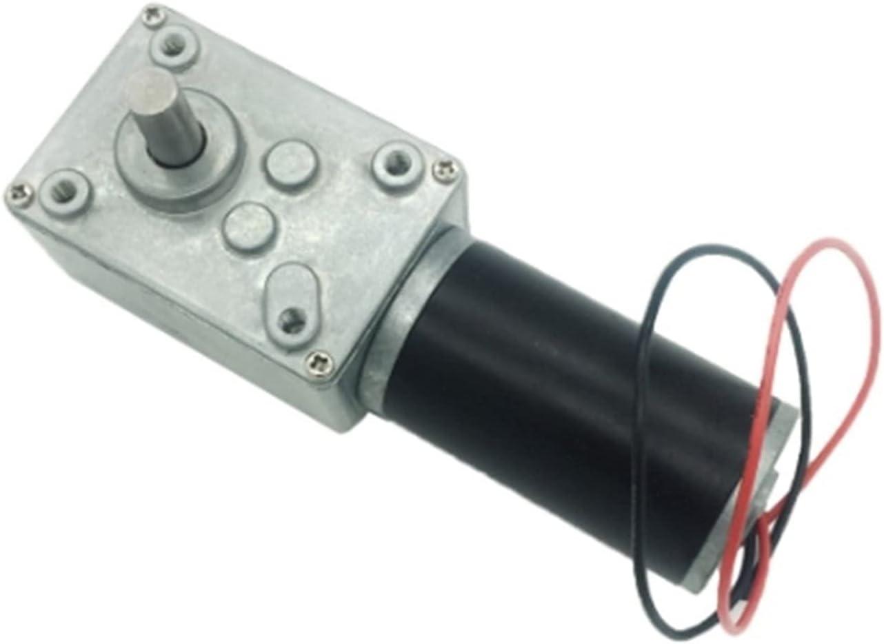 BoaInx Motor eléctrico 24v Potente Gusano de Alto par Motor de 12 voltios eléctrico inverso de Caja de Cambios 12V DC Reductor Motorreductor (Speed(RPM) : 12v 160rpm, Voltage(V) : Package B)