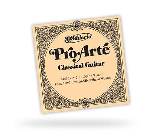 D'Addario J4405 Pro-Arte, cuerda individual de nailon para guitarra clásica, tensión normal, quinta cuerda