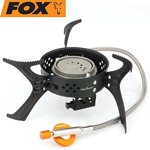 Fox Cookware Heat Transfer 3200 Stove - Gaskocher zum Karpfenangeln & Wallerangeln, Kochplatte zum Kochen am Wasser, Campingkocher