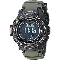 Casio Pro Trek Stainless Steel Quartz Men's Watch With Resin Strap