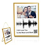 Soundwave Art Custom Gifts,Personalized Sound Wave Artwork Wedding Gifts Acrylic Photo Frame with QR Code
