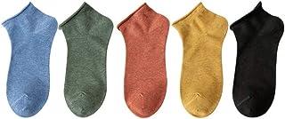 calcetín, calcetín de Hombre Cinco Pares Femeninos Boca Baja Lindo Color del Barco Puro Primavera y Verano Delgado Negro Mujer (Color : C)