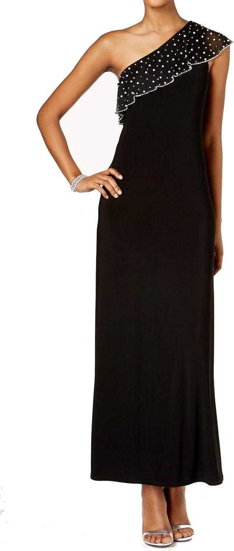 MSK Women's Embellished One-Shoulder Gown