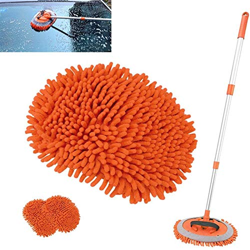 2 in 1 Microfiber Car Wash Mop Mitt with Long