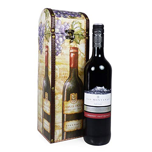 75cl Red Wine Presented in our Stunning 'Roma' Design Wine Carrier - Gift ideas for Valentines, Mothers Day, Birthday, Corporate, Wedding, Anniversary, Thank you, Dad, Fathers Day, Christmas