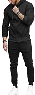 Tops and Pants Need to be Purchased Separately - Men Sport Muscle Set Sportswear Long Sleeve Zipper Up Hoodies Slim Fit Tr...