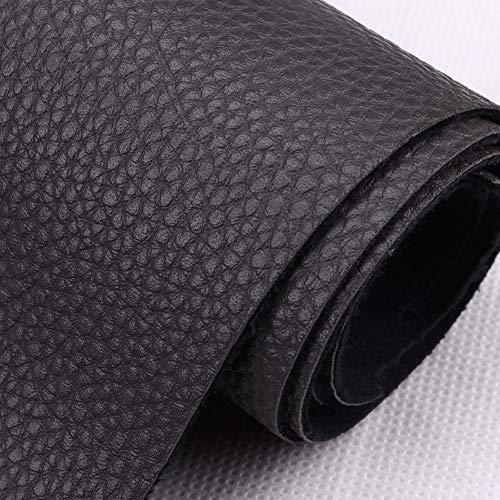 NIANTONG Vinilo Tapicería de Cuero sintético Tejido de Vinilo Material de Textura Suave y Resistente, para Muebles Sofás, sillas, Muebles Antiguos restaurados (Color : Black)