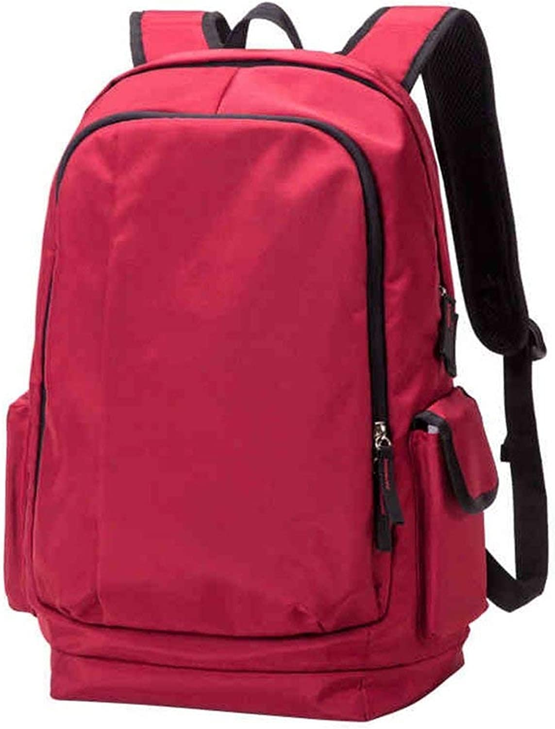 Campus Backpack Fashion Unisex Large Capacity Fashion Sports Travel Bag Casual Light Waterproof Walking Bag School Rucksack (color   Red)