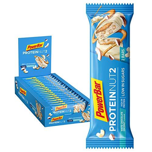 PowerBar Protein Nut2 White Chocolate Coconut 18x(2x22,5g) - High Protein Low Sugar Riegel