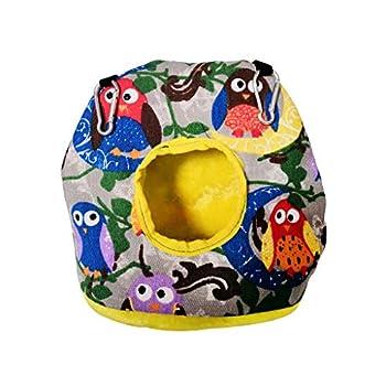 WOWOWO Perroquet en Peluche nid Hiver hamac Chaud pour Animaux de Compagnie lit Suspendu balançoire Grotte Oiseau Cage décor