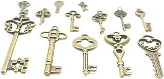 Guangcailun Decorazione di DIY 13pcs bronzo antico del pendente di chiave portachiavi in lega gioielli di moda Hanging m...