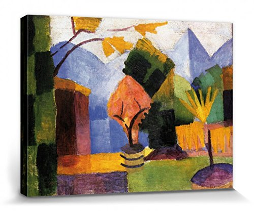 1art1 August Macke - Garten Am Thuner See Bilder Leinwand-Bild Auf Keilrahmen   XXL-Wandbild Poster Kunstdruck Als Leinwandbild 40 x 30 cm
