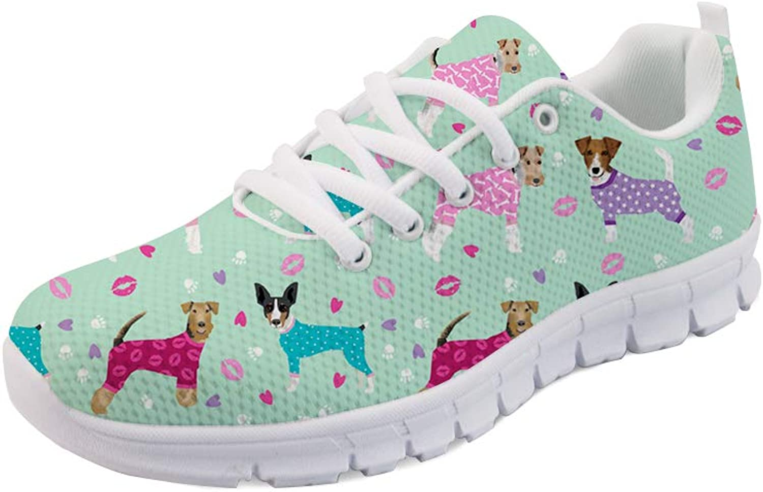 FOR U DESIGNS Dogs Cartoon Printed Boys Girls Sports Sneakers Women Men Casual shoes Comfortable Flats