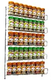 Neo® 40pc Chrome 5 Tier Spice Rack Jar Holder for Wall or Kitchen Cupboard