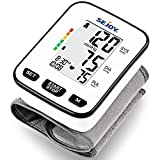 Blood Pressure Monitor-Wrist Cuff Automatic Digital Blood Pressure Meter, Accurate BP Machine for Home Use, Large Display, Hypertension & Irregular Heartbeat Detector