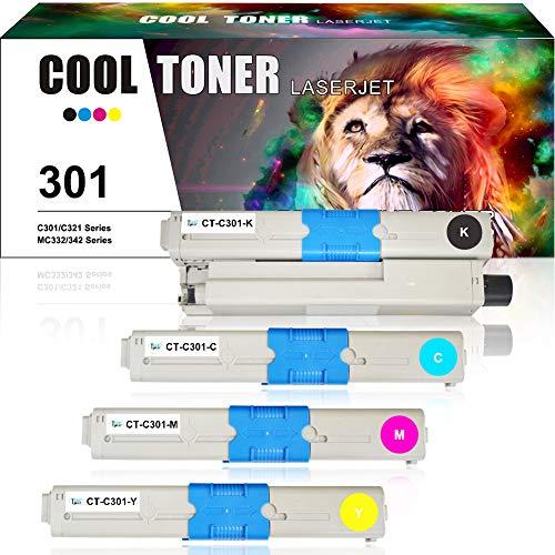 Cool Toner compatibele tonercartridge vervanging voor OKI 301 44973535 44973536 44973534 44973533 voor OKI C301 C301dn C321 C321dn, OKI MC332dn MC342dn MC342dnw MC342w MC342dw printer