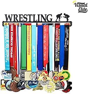 Visual Elite | Wrestling (VE-784) | Medal Display Hanger | Hand-Forged Black Metal Hanger Design | The Medal Hangers Collection