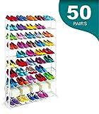 MAXELLPOWER Zapatero 50 Pares Organizador DE Zapatos Mueble Shoe Rack 10 BALDAS Garantia