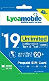 Lycamobile $19 Plan 1st Month Included SIM Card is Triple Cut Unlimited NATL Talk & Text to US Plus 75+ Countries 1GB of 4G LTE