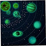 NIDONE Techo Luminoso Adhesivos de Pared extraíble Pegatinas Regalos del Planeta Que Brilla decoración 10PCS L