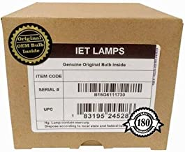 Genuine OEM Replacement Lamp for Panasonic PT-AE8000, PT-AE8000U, PT-AT6000, PT-AT6000E Projector - IET Lamps with 1 Year ...