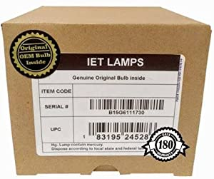 IET Lamps - Genuine Original Replacement Bulb/lamp with OEM Housing for JVC BHL-5009-S Projector (OSRAM Inside)