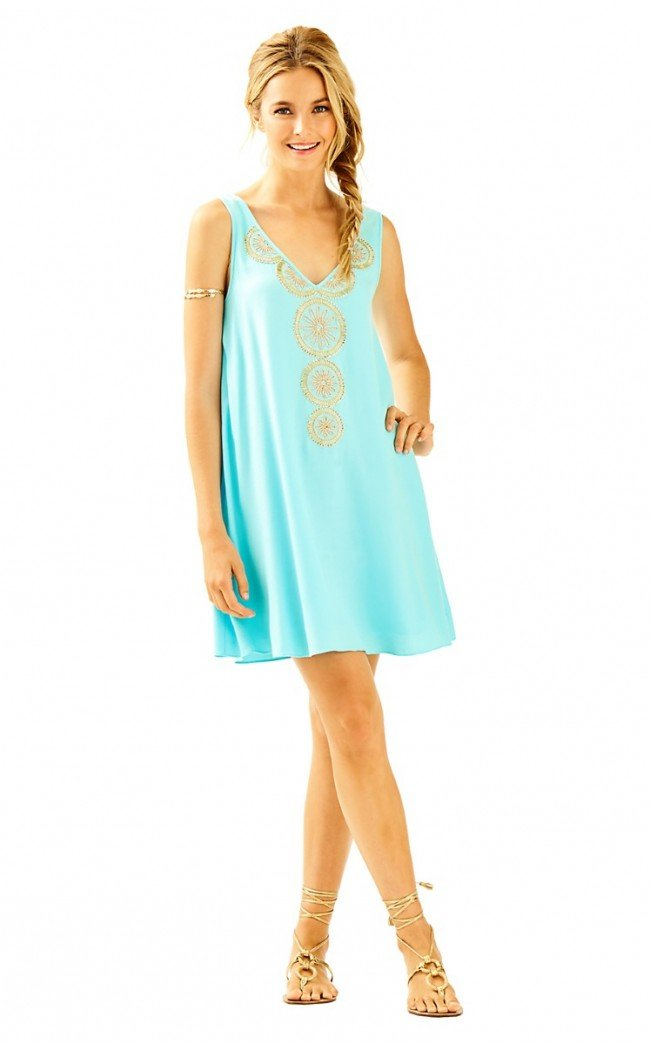 Available at Amazon: Lilly Pulitzer Fia Dress Serene Blue XS