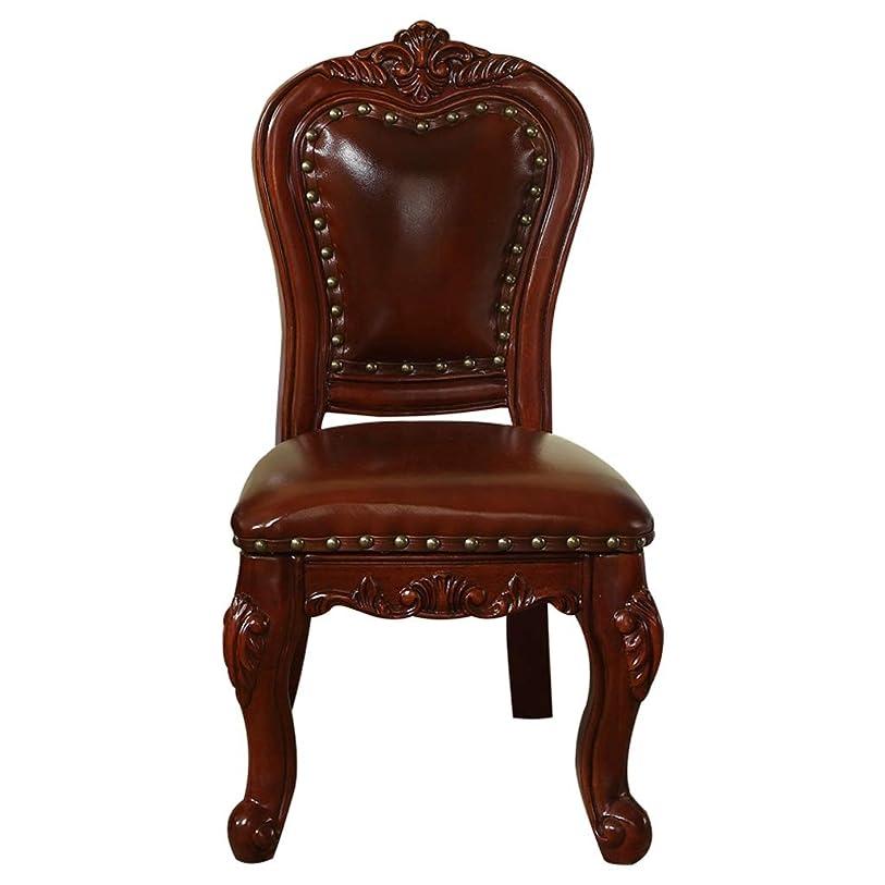 優れたライオネルグリーンストリートインストラクターZXFBM ホームレストランの椅子の純木の柔らかい袋のあと振れ止めの一貫した高さ32cmの革材料