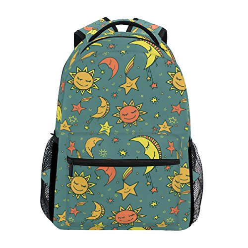 COOSUN Sun Moon and Stars Pattern Casual Backpack School Bag Travel Daypack