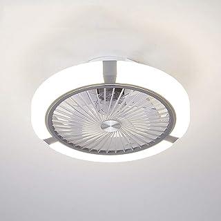 QZZZ Creativo Ventilador Invisible LED Lámpara de Techo Control Remoto Regulable Moderna Salón Sala de Estar Ultra Silencioso Ventilador Lámpara