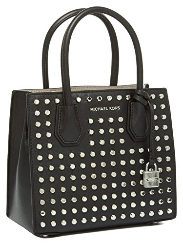 Michael Kors Studio Mercer Studded Leather Crossbody in Black