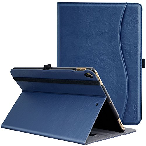 ZtotopCase Case for iPad Air 10.5' 2019(3rd Generation) & iPad Pro 10.5' 2017, PU Leather Business Folio Cover with Stand, Pocket and Auto Wake/Sleep Function, Multi-angle, Blue